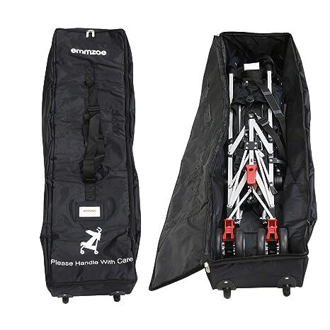 Emmzoe Premium Umbrella Stroller Airport Gate Check Travel Storage Bag Features Durable Nylon Foldable Pouch Hand//Shoulder Strap Blue