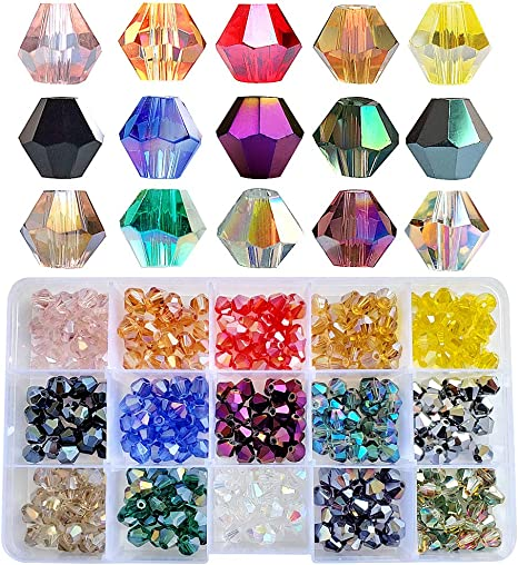 30 x Faceted Glass Beads 8mm Choice of colour