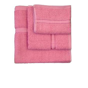 Cartucho de luz fucsia algodón toalla de baño toallas de baño de bordado 100L cm x ...