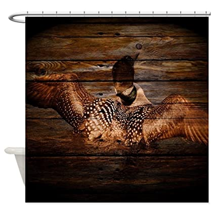 Amazon CafePress Barnwood Wild Loon Shower Curtain Decorative