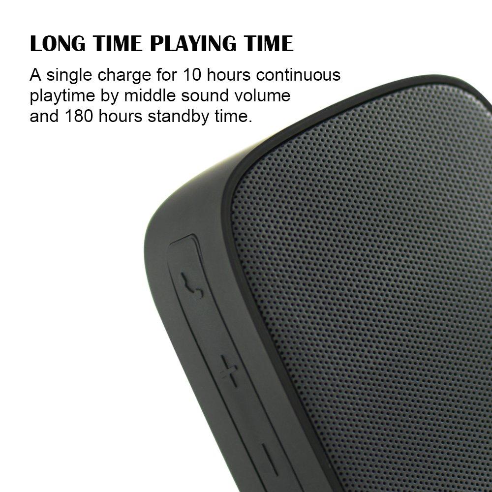Altavoz Inalámbrico de Bluetooth ILE, Mini Altavoz Portátil con Audio HD y Bajo Potenciado, Altavoz Incorporado, Bluetooth V2.1 EDR, Llamada Manos ...