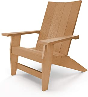 product image for Hatteras Hammocks Cedar Adirondack Chair, Eco-Friendly Durawood, All Weather Resistance, Fit 'N' Finish Handcrafted in The USA