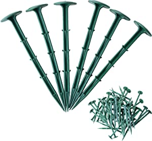 (120 Pack) Nylon Landscape Edging Anchoring Stakes.Landscape Pile with Toughness and Strength.Suitable for Garden Edging Border, No Dig Landscape Edging,Lawn Edging and Landscape Border.