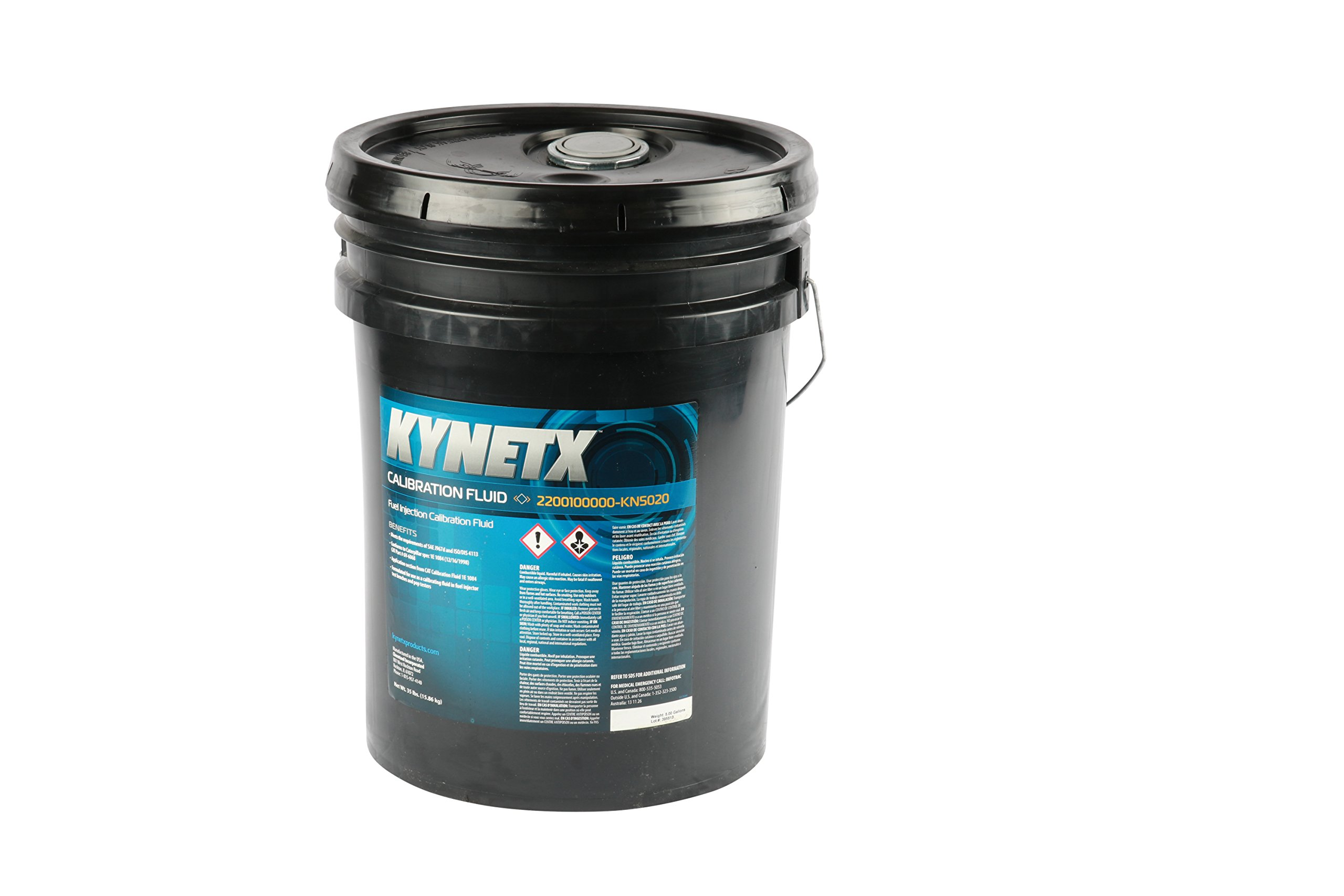 Kynetx Calibration Fluid, 5-Gal Pail, KN5020, Anti Corrosion Fluid, Low Viscosity Mineral Oil, Safe Fluid. Ideal for Heavy Truck and Construction, SAE J967d and ISO/DIS 4113