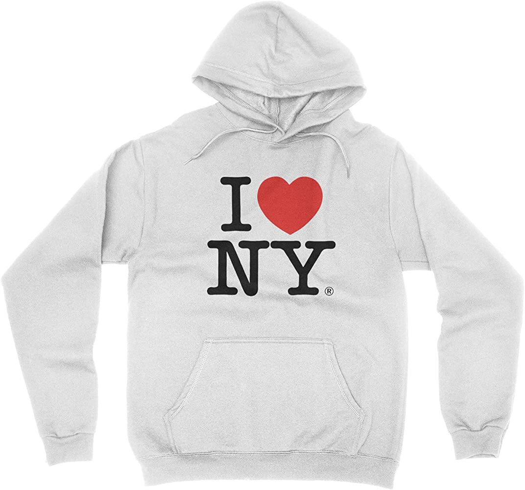 I Love NY New York Hoodie Screen Print Heart Sweatshirt Charcoal