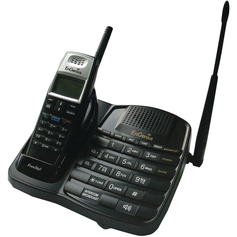 EnGenius FreeStyl1 Extreme Range Scaleable Cordless Phone System with 1 Handset, 2-Way Intercom