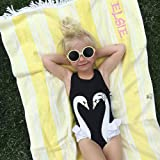 pursueFree Baby Girl Kids Swimwear Swan Flamingos