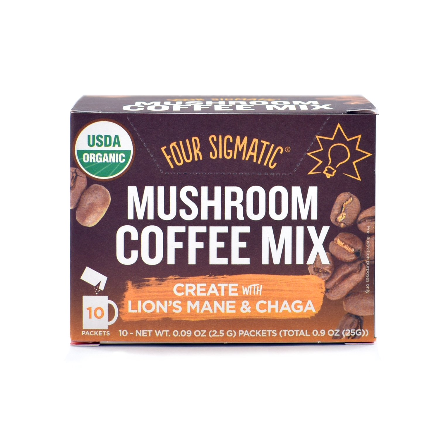 Four Sigmatic Mushroom Coffee Mix Pack of 2 - Lion's Mane and Chaga & Cordyceps and Chaga by Four Sigmatic (Image #2)