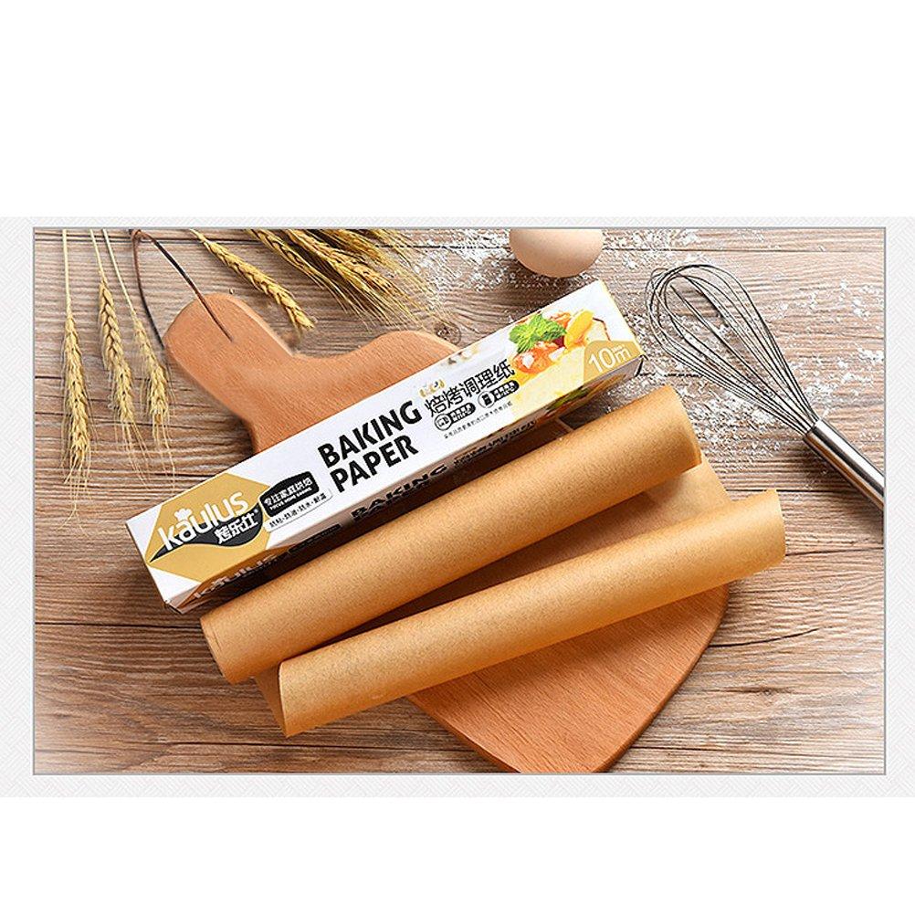 rosenice rollo papel sulfurizado hoja papel de horno absorbente huile-10/m X 30/cm