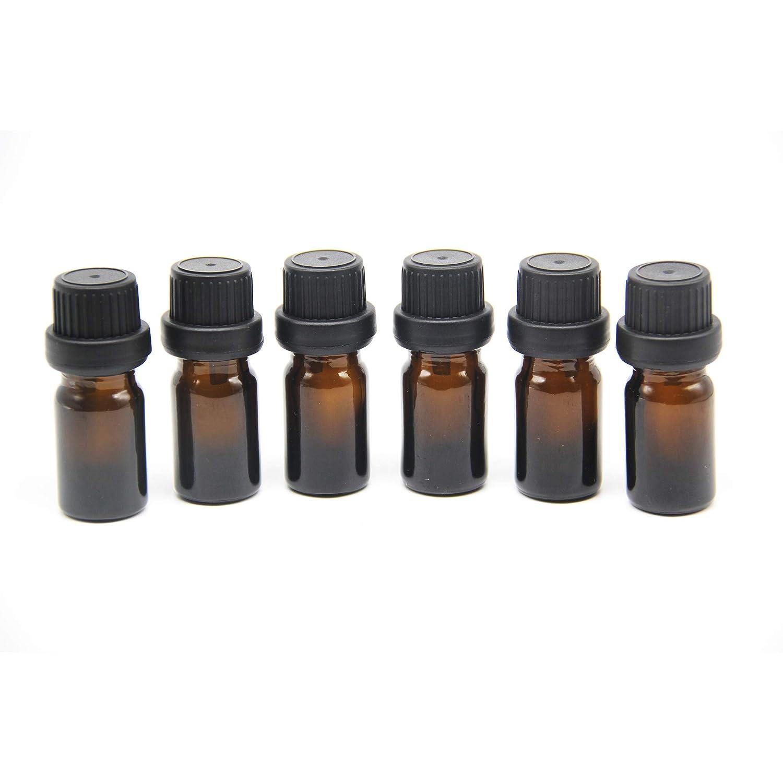 Yizhao Ambar Botellas de Aceite esencial de Vidrio Vacías 10ml,con Reductor de Orificio y Tapa,Para Aceites Esenciales, E-Líquidos,Aromaterapia,Perfumes,Masajes,Laboratorio de Química – 12Pcs