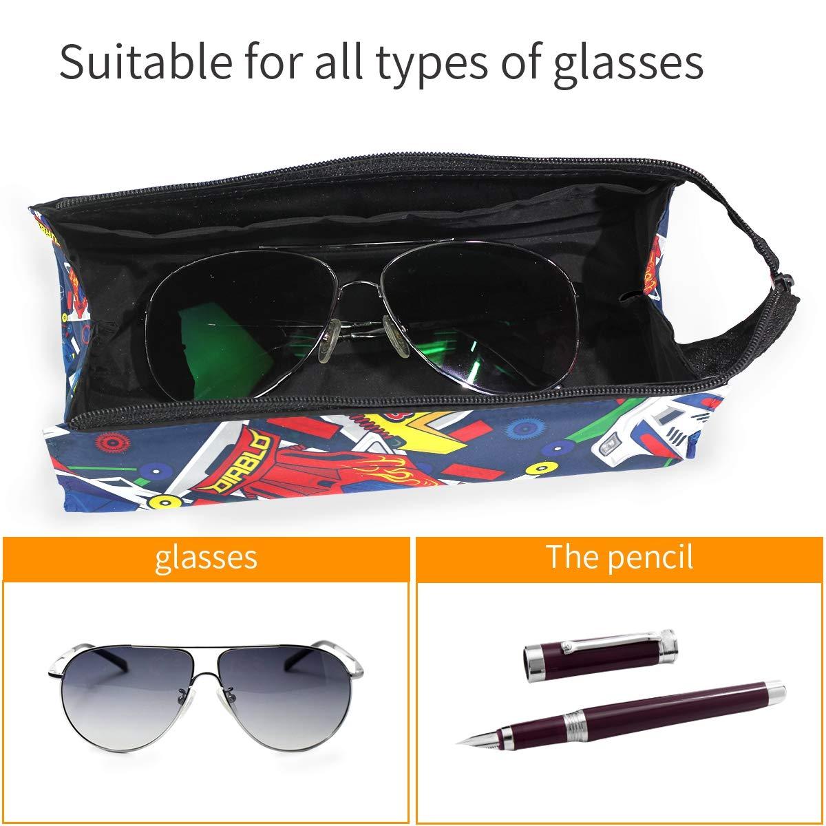 Mini 4WD Toys Car Pop Blue Glasses Case Women Men Eyeglasses Bag Pencil Case Pouch