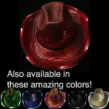 e06eca3a2 Amazon.com  GlowUP Light Up Cowboy Hat  Toys   Games