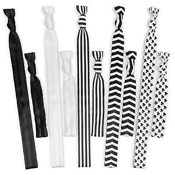 Amazon.com   No Tangle No Crease Ribbon Yoga Head Bands and Hair Ties -  Black and White   Beauty bcdd624819f