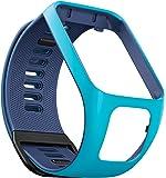 TomTom Wechselarmband für TomTom Spark 3 / Spark / Runner 3 / Runner 2 GPS-Uhren, Hellblau/Marineblau, Größe S