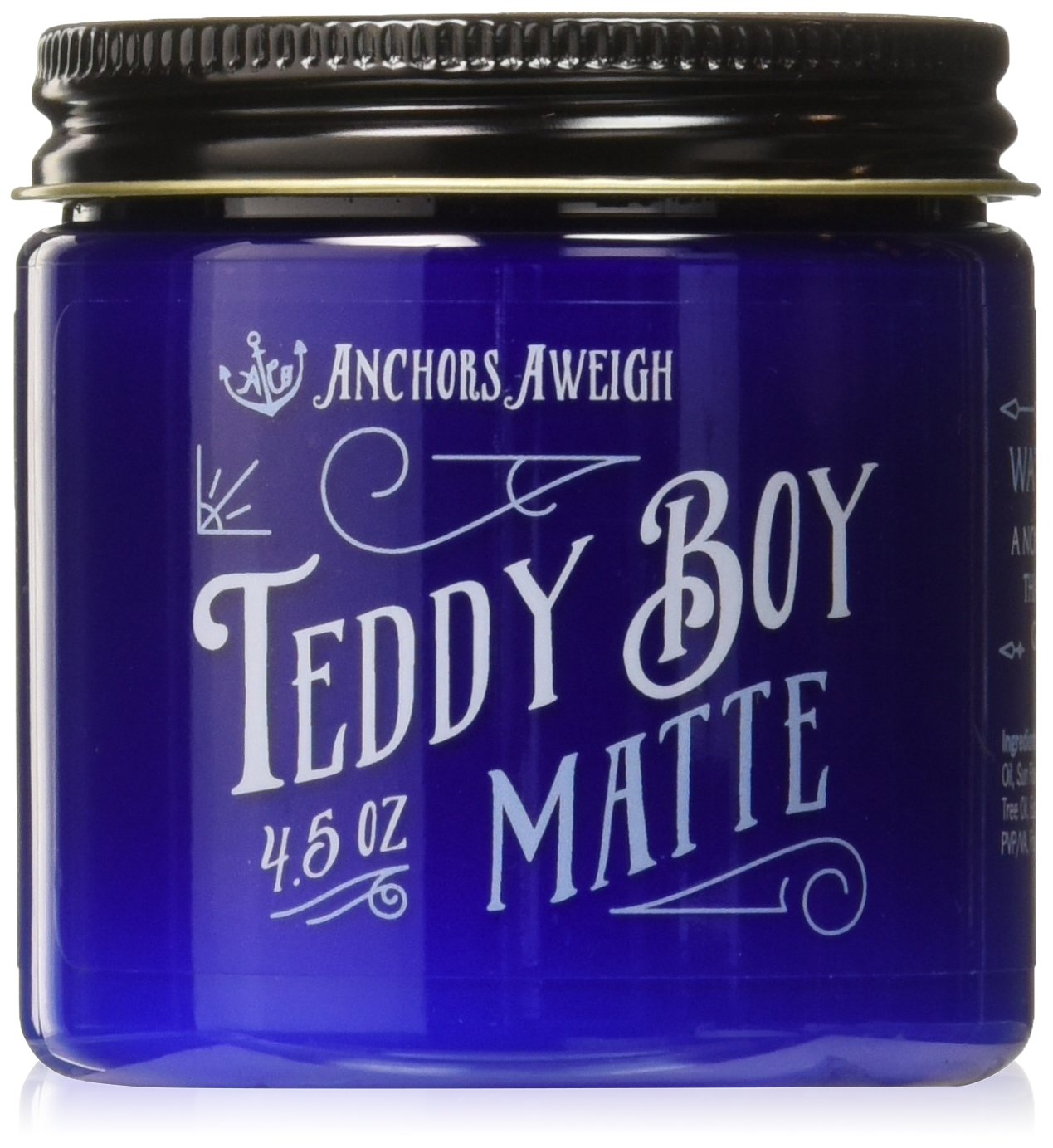 Anchors Hair Company Teddy Boy Water Based Dry Matte Wax, 4.5 oz.
