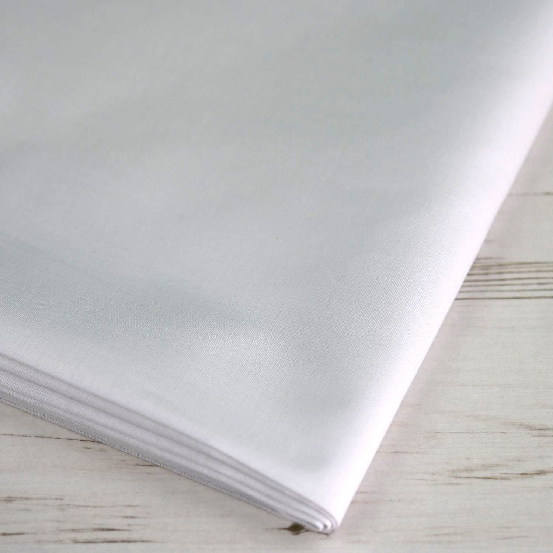 Tela extra ancha 100% algodón blanca, láminas de tela de hasta 150 ...