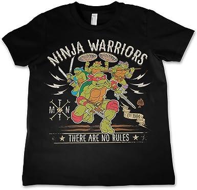 Oficialmente Licenciado Ninja Warriors - No Rules Unisexo Niños Camiseta Siglos 3-12 Años