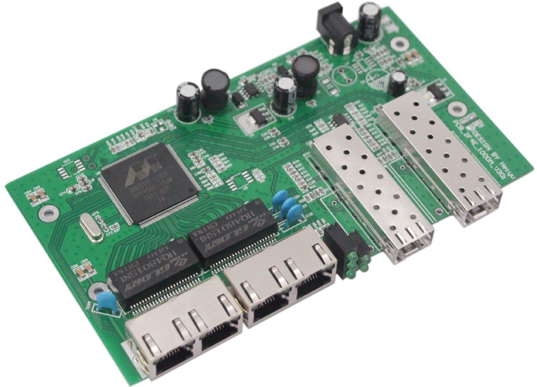 Handar Gigabit Ethernet Media Converter Open SFP Slot, Unmanaged Gigabit Ethernet Switch 4 Ports 10/100/1000 UTP 2 SFP Open Slot, Without Transceiver by Handar (Image #7)