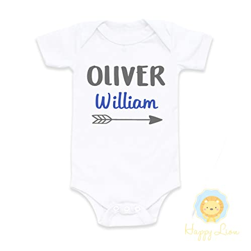 d14fea1b28aba Image Unavailable. Image not available for. Color: Happy Lion Clothing - Baby  Boy Coming Home Outfit Personalized Newborn Baby Shower Gift ...