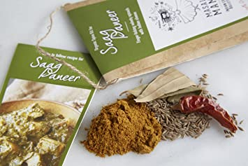 Amazon indian spice kit for saag paneer spinach and indian indian spice kit for saag paneer spinach and indian cheese organic curry spice forumfinder Choice Image
