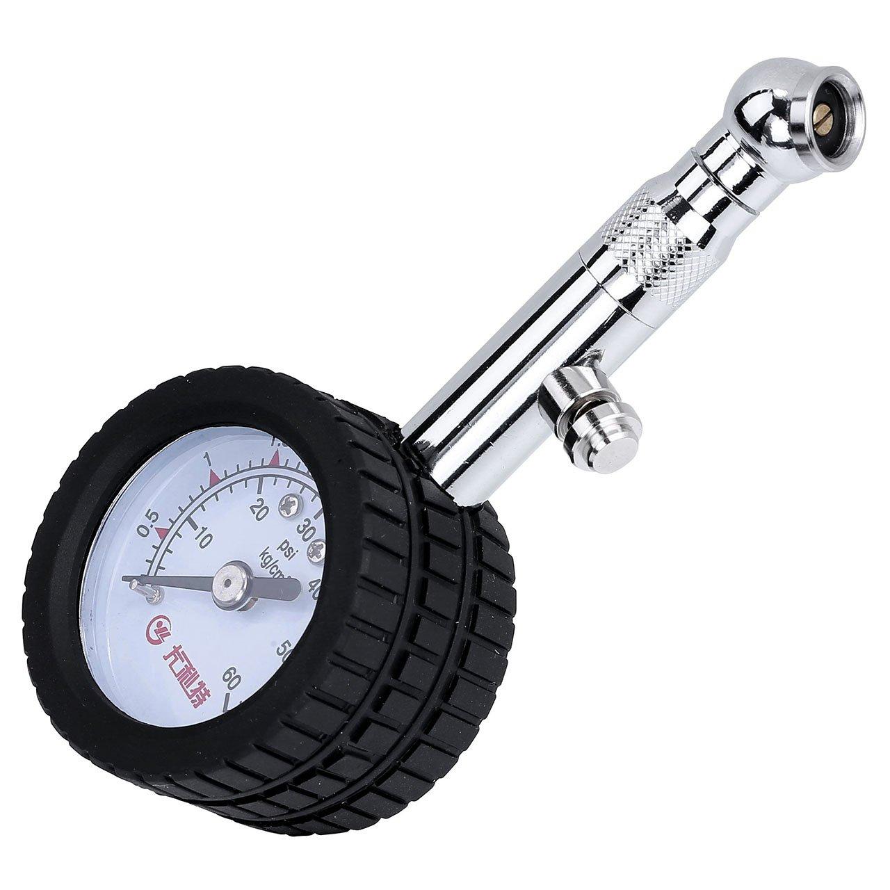 Graceme camiones bicicletas etc. 60 psi Mini Man/ómetro de presi/ón de neum/áticos para coches ATV motos UTV VTT
