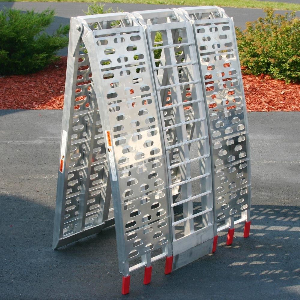 Black Widow 89'' Arched Folding Motorcycle Ramp System by Black Widow (Image #5)