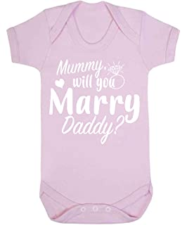 9cc5939f34f Mummy Will You Marry Daddy Baby Vest Babygrow Bodysuit Engagement Gifts New  Baby Girl Baby Boy