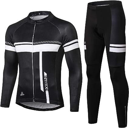 Hommes Shirt de Cycliste Maillot Vélo Haut à Manches Longues Vélos Sport