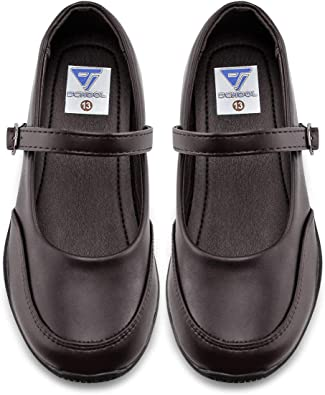 THEE BRON Girls Mary Jane Flats School Uniform Dress Shoes
