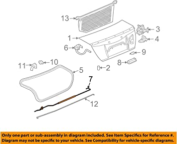 Genuine GM 25808941 Compartment Lid Panel Protector