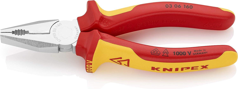 クニペックス KNIPEX 0306-160 絶縁ペンチ 1000V (SB)