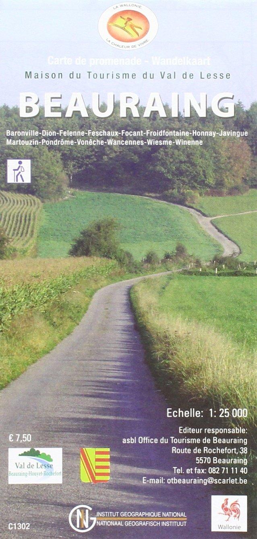 Beauraing 1 : 25 000 Wanderkarte (Mehrsprachig) Landkarte – 1. Dezember 2013 NGI 9462350159 Karten / Stadtpläne / Europa Ardennes