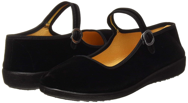 Chaussures pour femmes Velvet Mary Jane Coton noir Old Beijing Tissus Exercice de yoga Chaussures de danse
