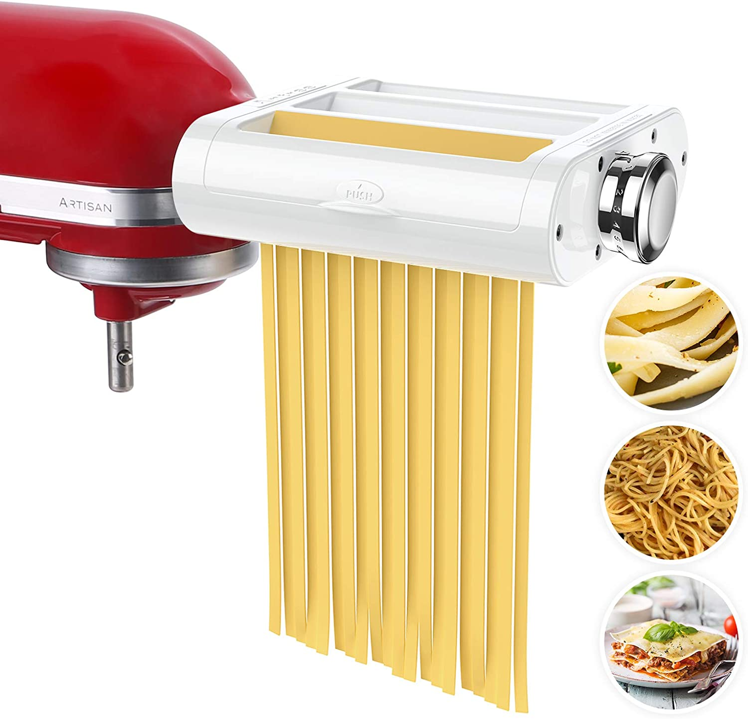 Amazon Com Antree Pasta Maker Attachment 3 In 1 Set For Kitchenaid Stand Mixers Included Pasta Sheet Roller Spaghetti Cutter Fettuccine Cutter Maker Accessories And Cleaning Brush Home Kitchen