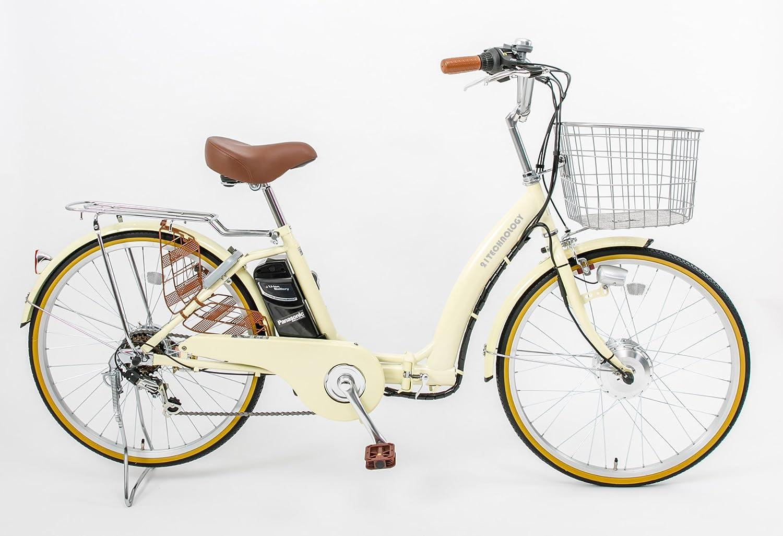 21Technology DA246折りたたみ電動アシスト自転車 24インチ 6段変速 B079XZ9TYQアイボリー