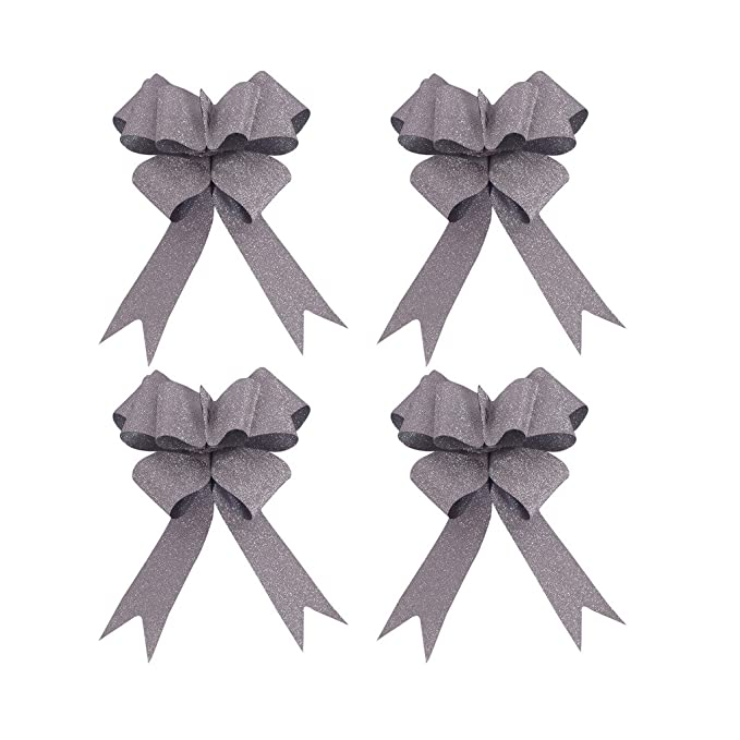 Gift Florist Pullbows 30mm Pew 10x 32mm Large Glitter Butterfly Pull Bows