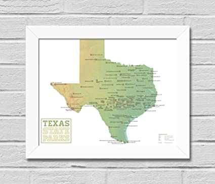Complete Map Of Texas.Amazon Com Best Maps Ever Texas State Parks Map Framed 11x14 Print