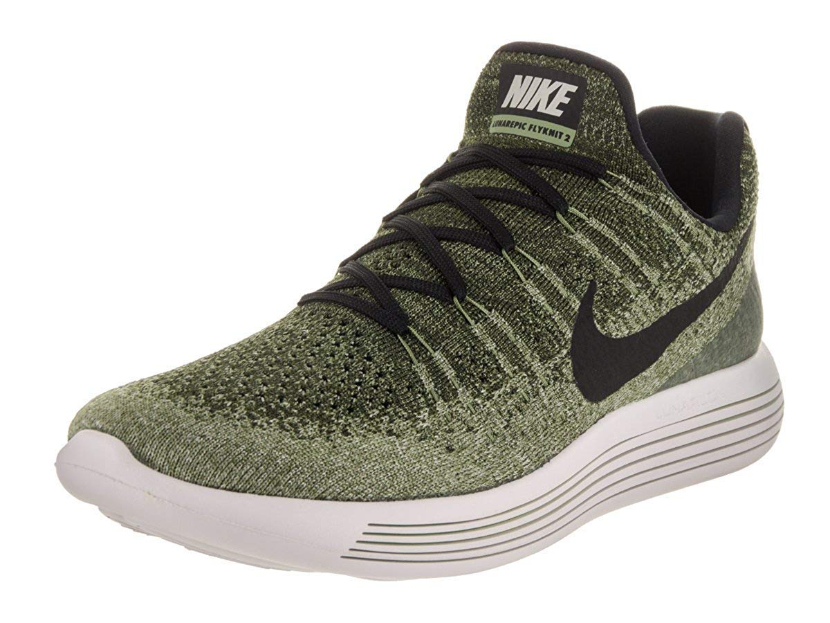 timeless design 8491e 918fe NIKE Lunarepic Low Flyknit 2 Mens Running Shoes (8.5 D(M) US),Rough  Green/Black/Palm Green