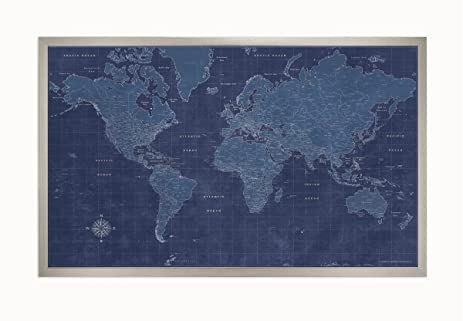 amazon com framed blueprint map posters prints
