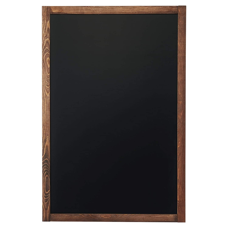 "Chalkboard | Magnetic & Non-Porous | Framed Chalkboard | Vintage Decor | Chalk Board for Wedding, Kitchen, Bar, Restaurant, Menu & Home | Chalkboard Sign | 24"" x 36"" | Wall Mounted Chalkboard | Large"