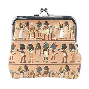 COOSUN Faraón Egipcio patrón de Cuero de la Moneda de Cierre ...