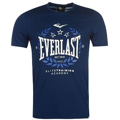 2681870092a2ae Everlast Herren Logo T Shirt Kurzarm Rundhals Kontrast Print Regular Fit  Marineblau Lorbeer XXX Large  Amazon.de  Bekleidung