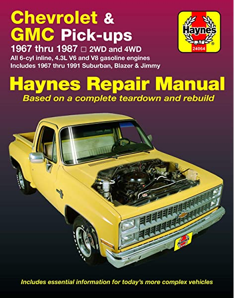 Chevy & GMC 4 3L & V* Pick-ups (67-87) & Suburban, Blazer & Jimmy (67-91)  Haynes Repair Manual: Haynes, John: 9781850107644: Amazon.com: BooksAmazon.com