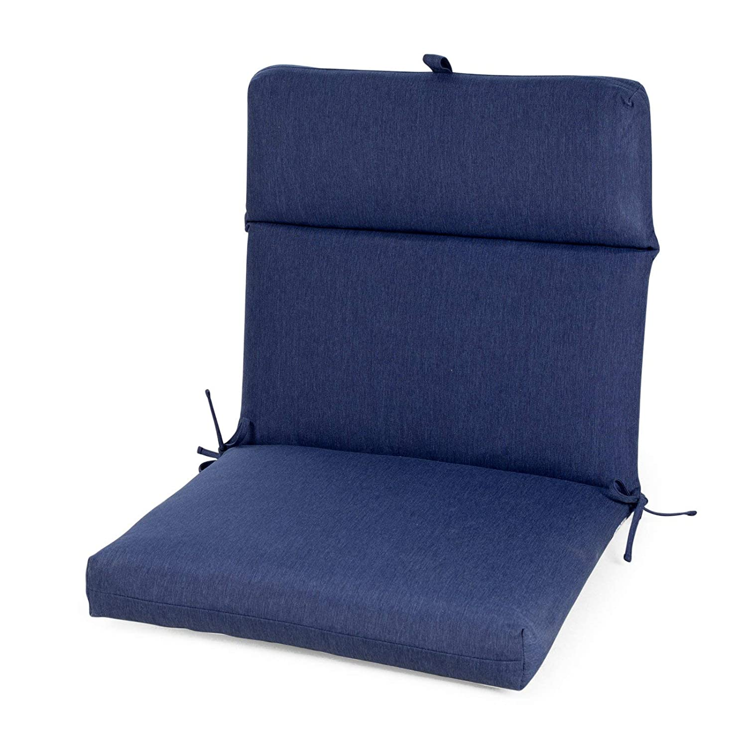 Marvelous Amazon Com Dark Blue Outdoor Patio Chair Cushion Hinged Pabps2019 Chair Design Images Pabps2019Com