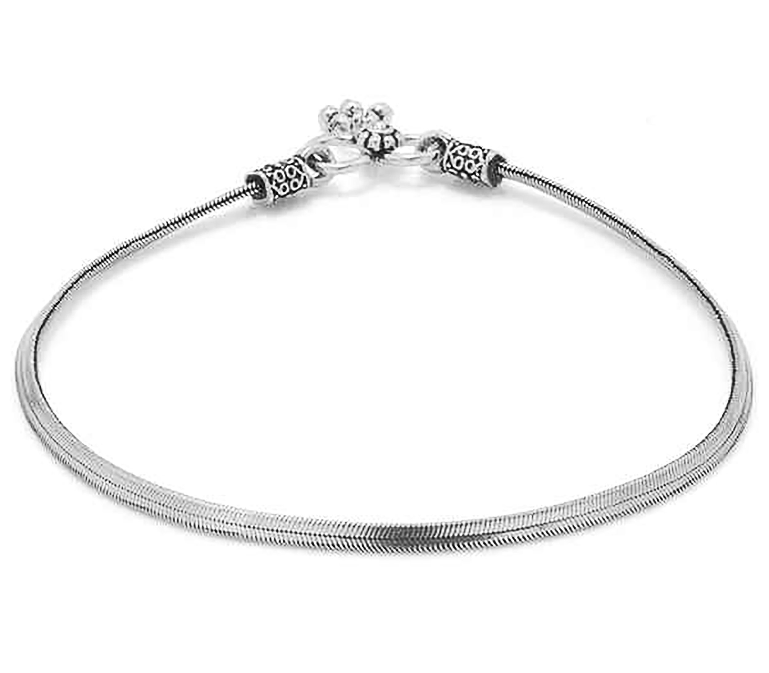D&D Crafts Sterling Silver Anklets for Women For Girls, Women by D&D (Image #2)
