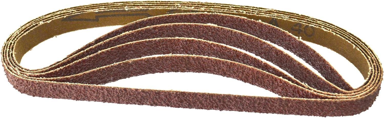 Belt Power File Sander Abrasive Sanding Belts 457mm x 13mm Mixed Grit 20pk