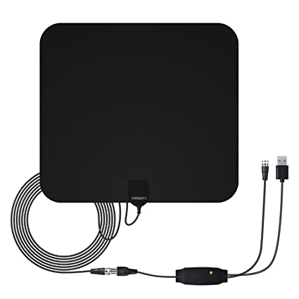 WochiTV HDTV Antenna 50 Mile Range Indoor Antenna Digital TV Antenna with Detachable Amplifier Signal Booster