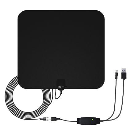 WochiTV HDTV Antenna 50 Mile Range Indoor Antenna Digital TV Antenna with Detachable Amplifier Signal Booster