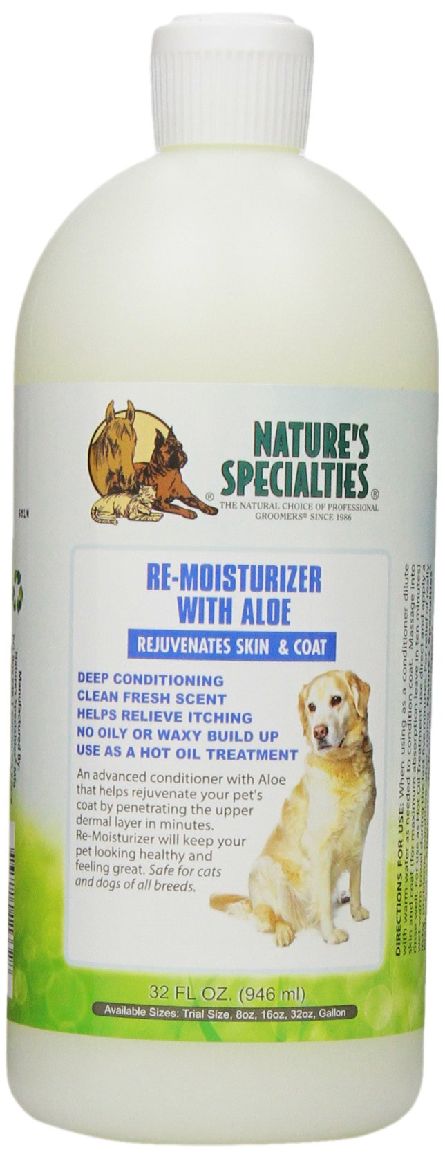 Nature's Specialties Aloe Remoisturizer Pet Conditioner, 32-Ounce by Nature's Specialties Mfg
