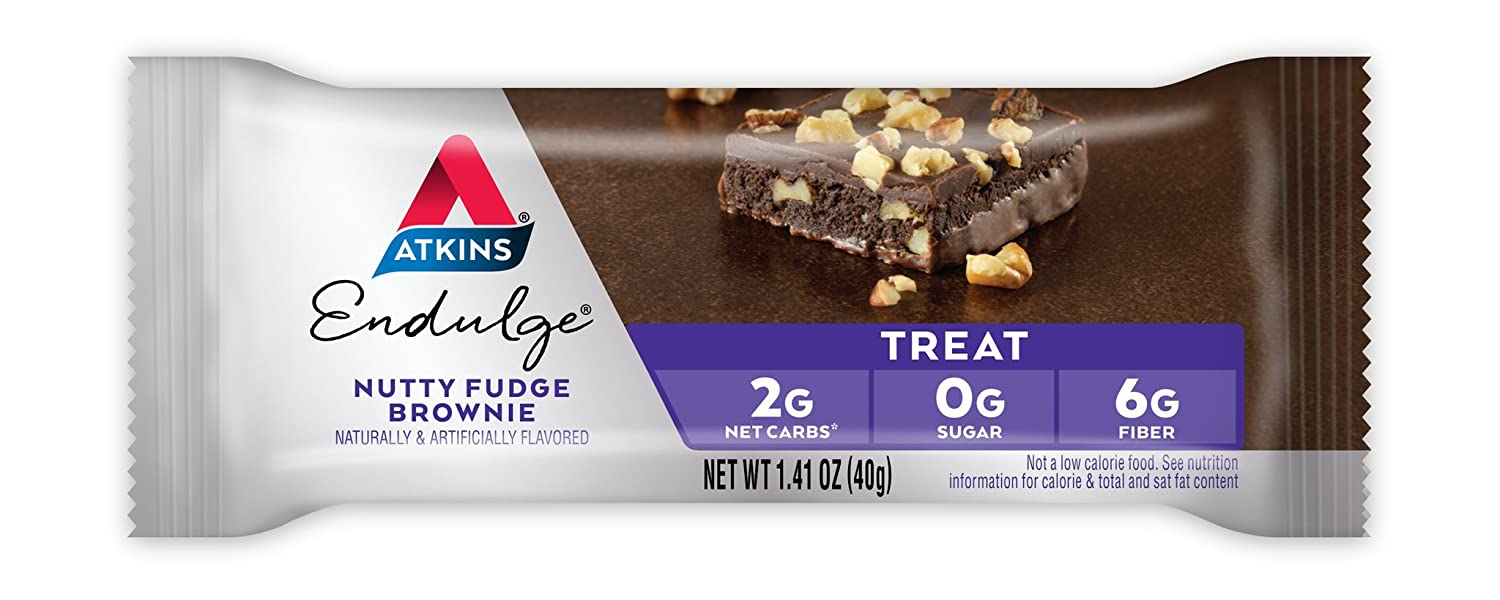 Atkins Endulge Bars Nutty Fudge Brownie, Nutty Fudge Brownie 5/7.1 Oz: Amazon.es: Salud y cuidado personal